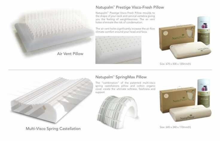 Natupalm Pillow Collection