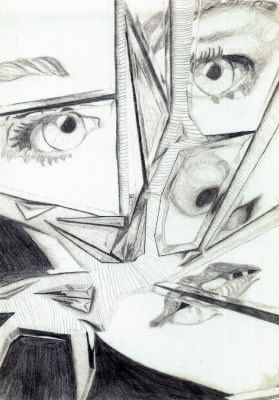 looking in mirror different reflection drawing. how to draw a broken mirror - google search looking in different reflection drawing t