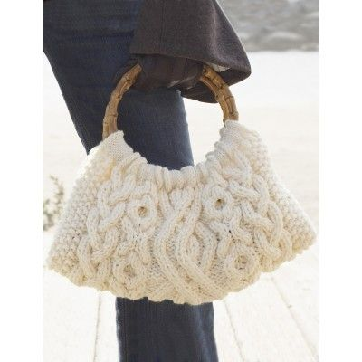 Free knitting pattern for Cabled Bag. Free Pattern