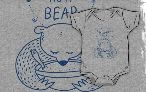 Hungry As A Bear - One Color - Blue / by TsipiLevin