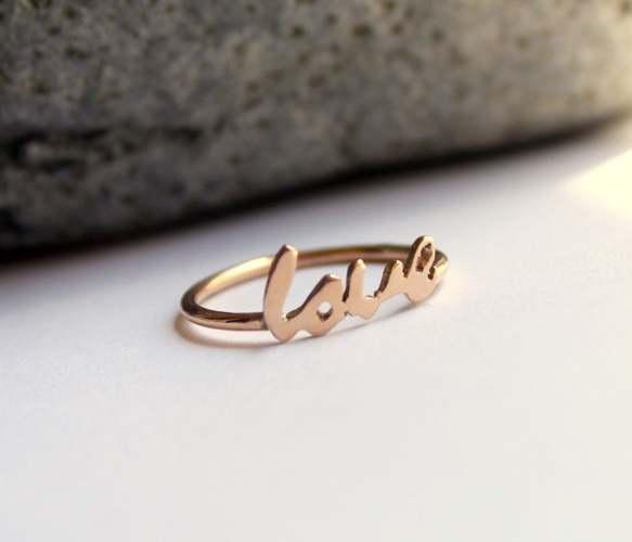 8k Solid Rose Love Ring