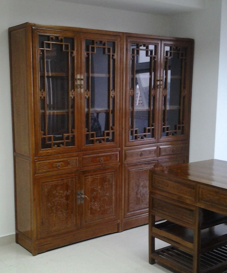 Office cabinet glass cabinet chinese antique for Reproduction kitchen cabinets