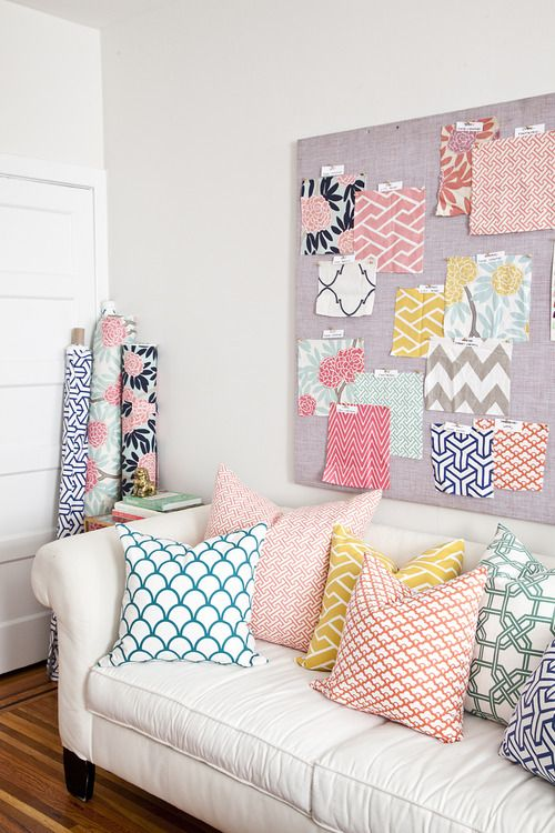 variety of pillow patterns