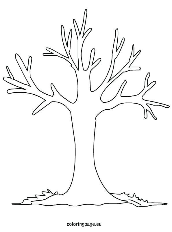 Fall Trees Coloring Pages Fall Tree Coloring Pages Color Bros Free Pictures Of Apple Trees Without Leaves P Tree Coloring Page Fall Coloring Pages Tree Outline