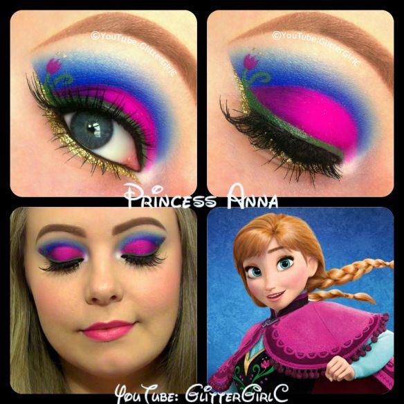 Disney Frozen Princess Anna makeup. YouTube channel: https://www.youtube.com/user/GlitterGirlC