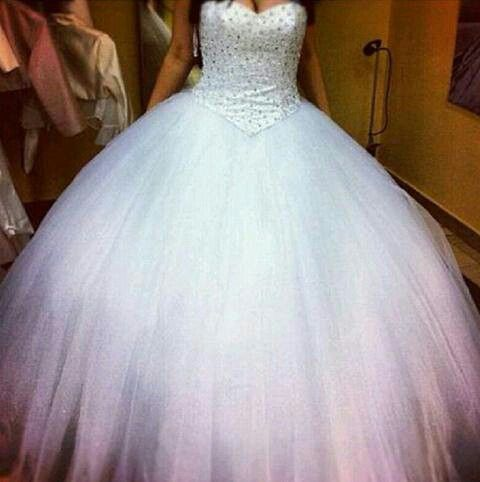 White Poofy Prom Dresses 67