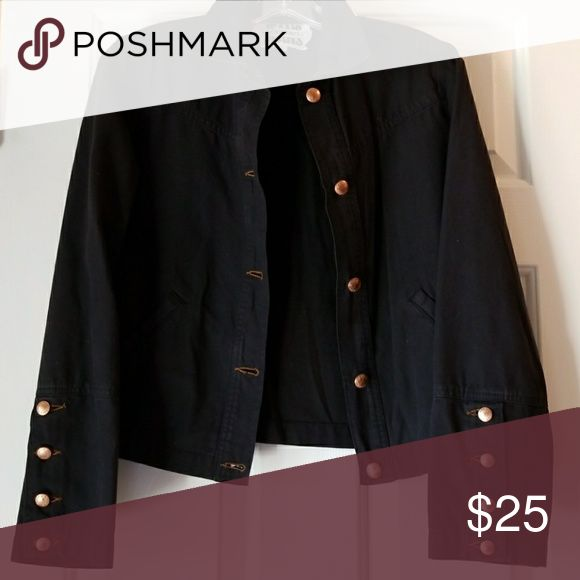 🎁🎁🎁HOST PICK🎁🎁🎁 ICEBERG JEAN JACKET Black with copper acents Iceberg Jackets & Coats Jean Jackets