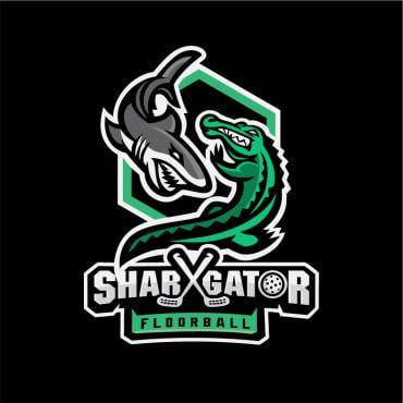 SharXGator - logo for floorball team in Surabaya indonesia