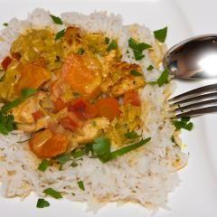 Curry-Huhn mit Basmati Reis und 87.000 weitere Rezepte entdecken auf DasKochrezept.de