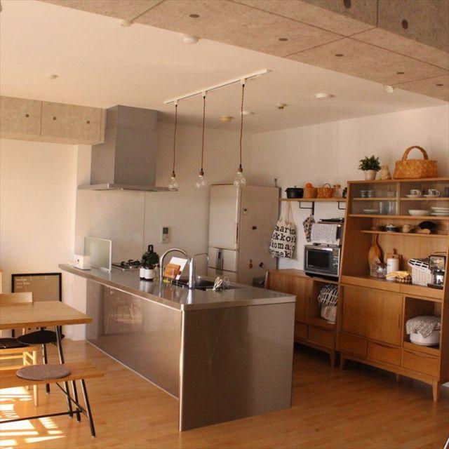 sisko_tomokaさんの、Kitchen,食器,ナチュラル,IKEA,カフェ風,北欧,unico,marimekko,ウニコ,アイランドキッチン,ステンレスキッチン,IGやってますについての部屋写真