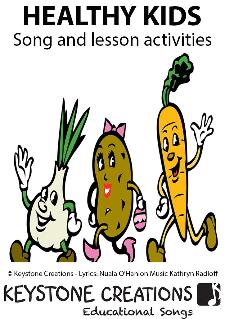 'HEALTHY KIDS' (K-6) is a content-laden, curriculum-aligned song that helps students learn about and celebrate good nutrition and other healthy lifestyle choices. There's 'A Lesson in Every Lyric'® https://designedbyteachers.com.au/healthy-kids-curriculum-song-and-lesson-materials/
