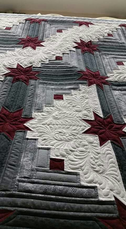Whisper Stitch Quilting Log Cabin Patchwork Quilting