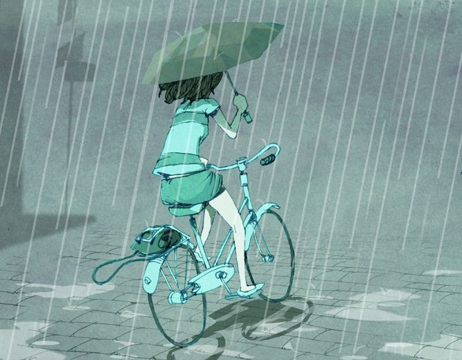 how to bike ride in the rain