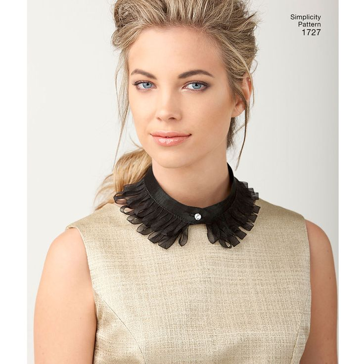 Simplicity collar sewing patterns help you create your own unique embellished…