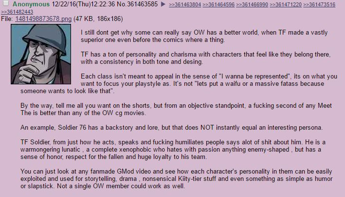 Anon has a good point on Overwatch #games #teamfortress2 #steam #tf2 #SteamNewRelease #gaming #Valve