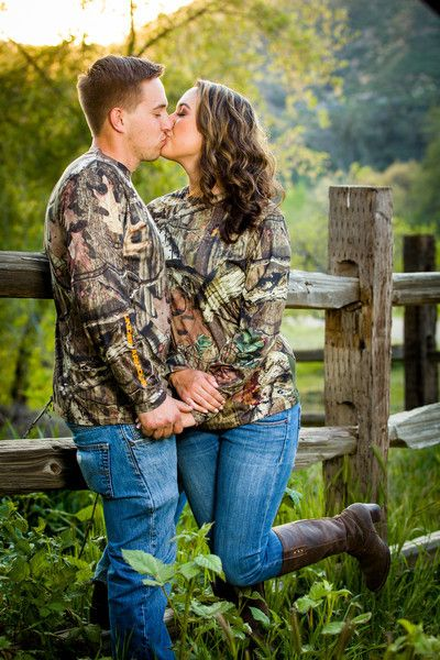 Country engagement pictures - camo - hunting - outdoors - duck hunting