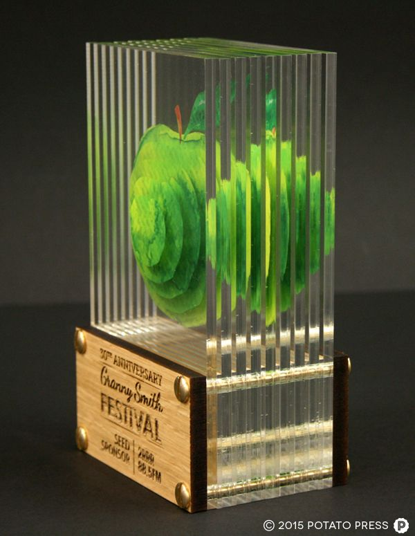 The guys over atGranny Smith Festivalwanted us to create something special for them, so we came up with these layered optical trophies which have great visual impact. With the sharp vibrant colours mixed with brass and timber we couldn't be happier with the end result!  america united states california