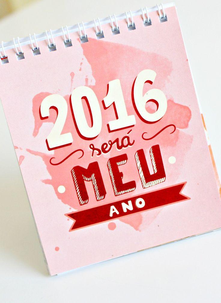 Calendário de mesa Kéfera 2016