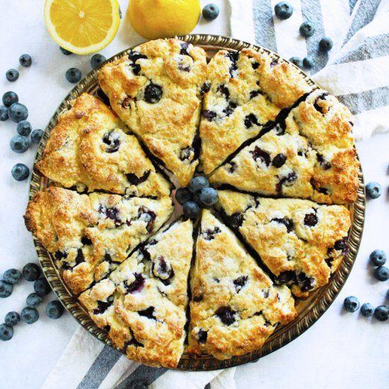 Lemon Blueberry Ricotta Scones