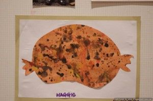Haggis splatter paint craft for Burn's Night