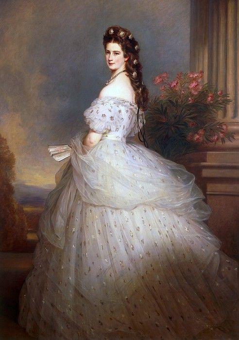 Елизавета, императрица Австрии и королева Венгрии. Франц Ксавьер Винтерхальтер. Описание картины, скачать репродукцию.