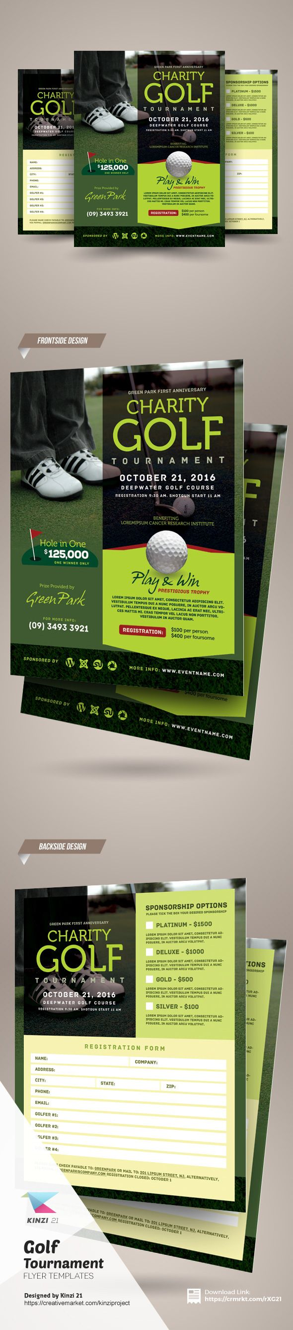 Golf Tournament Flyer Template On Behance