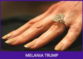 Melania Trump Ring Value 480 000 00 The Two Million In