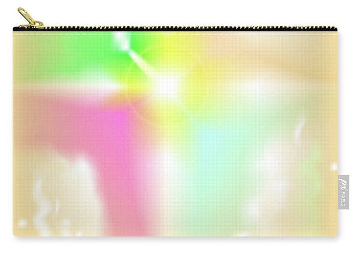 The Digital Abstract Art By Ron Labryzz Carry-all Pouch featuring the digital art Crux by Ron Labryzz