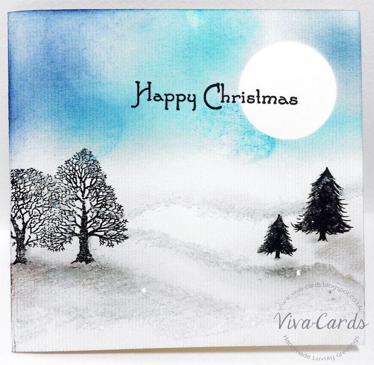 Handmade Card - Happy Christmas - Tree's