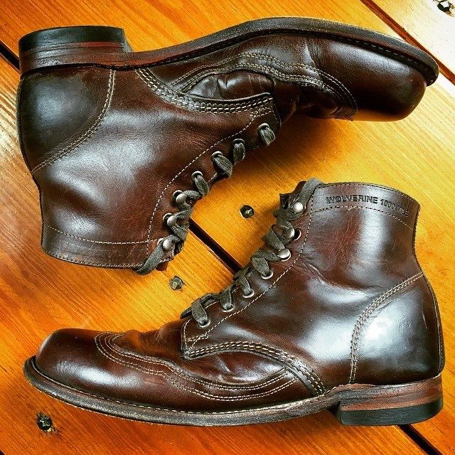 Wolverine 1000 Mile boots.