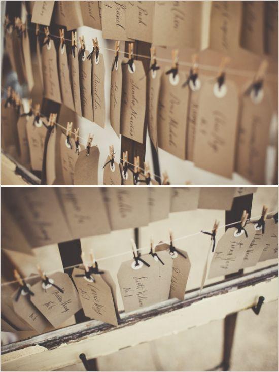 framed hanging escort cards #weddingreception #escortcards #weddingchicks http://www.weddingchicks.com/2014/02/17/enchanting-rainy-day-wedding/