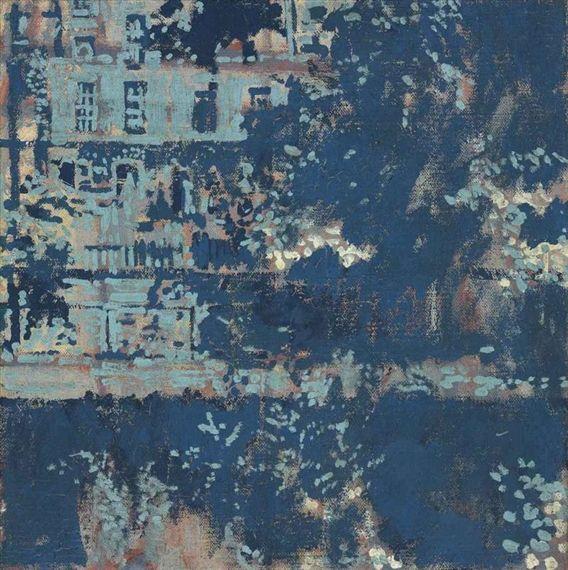 Walter Sickert (British, 1860-1942), Hanging Gardens of Islington, 1924-26. Oil on canvas, 17½ x 17¼ in.