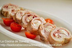 La Cocina de Sandra: PECHUGA DE POLLO RELLENA CON JAMÓN Y QUESO SUIZO