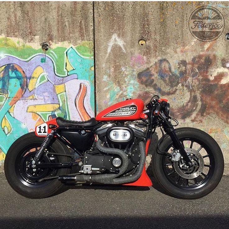 """bikebound: """"#883 #Sportster #caferacer by @federicomotors of Sweden. """""""