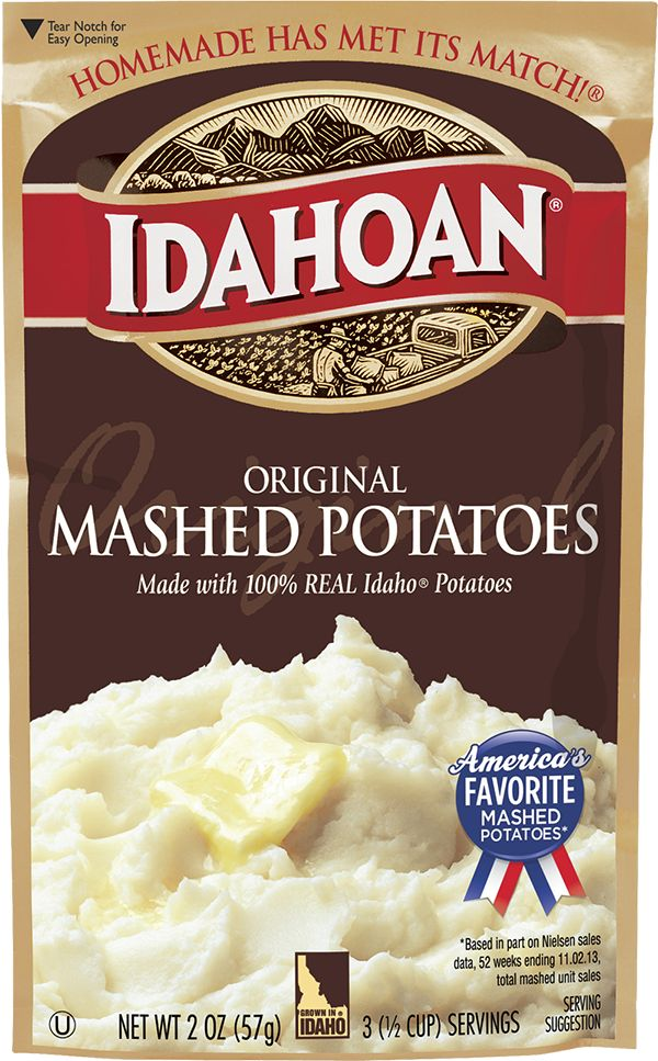The Gold Standard since 1960, 100% REAL Idaho® Russets have been the foundation of Idahoan Original Mashed Potatoes – the original comfort food.