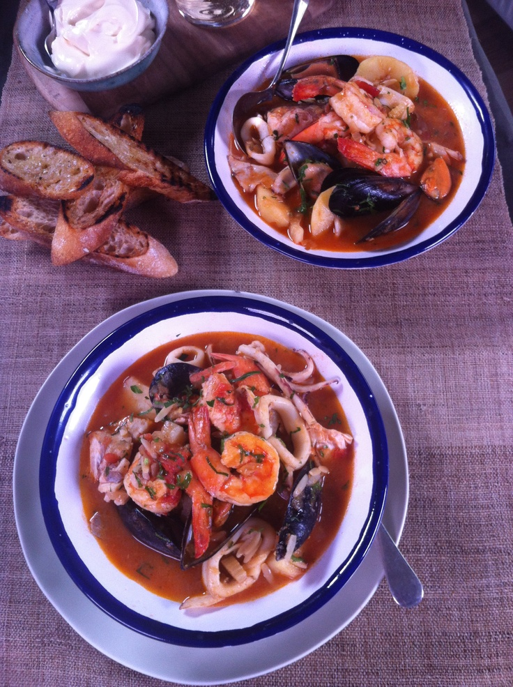 Karen Martini cooked an Amazing Seafood Stew for Lunch...