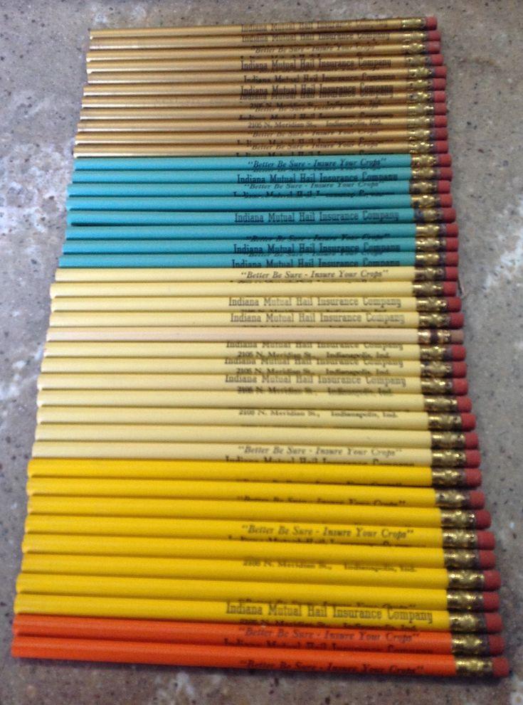 40 Vintage Pencils Indiana Mutal Hail Insurance