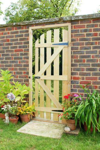 Illusion Mirror Garden Gate Wooden Door Way Acrylic Mirrored Sheet Outdoor Patio   eBay