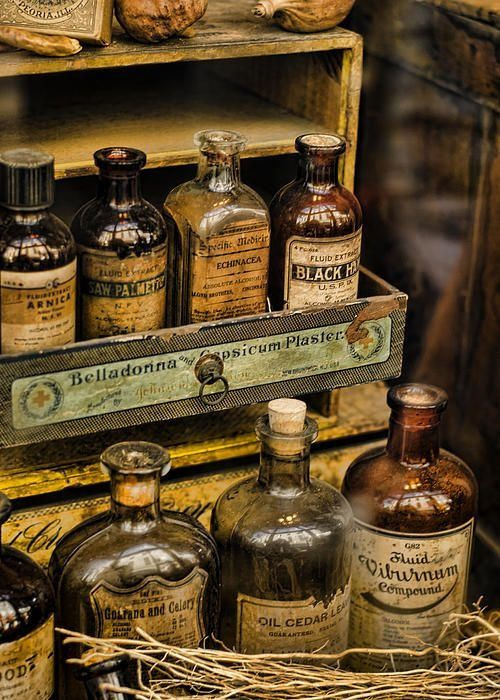 Potions And Cure Alls Poster by Heather Applegate                                                                                                                                                      More