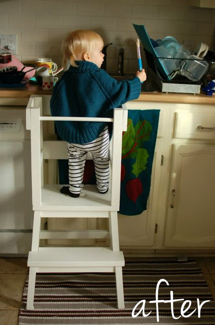 "Materials: BEKVA""M step stoolDescription: Like most toddlers, our Lucy was a curious little one... I wanted her to be able to look, help and play at our kitche"