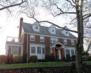 "The house used in the TV show ""Blue Bloods,"" located in the Bay Ridge neighborhood of New York.  Love the round bay windows."