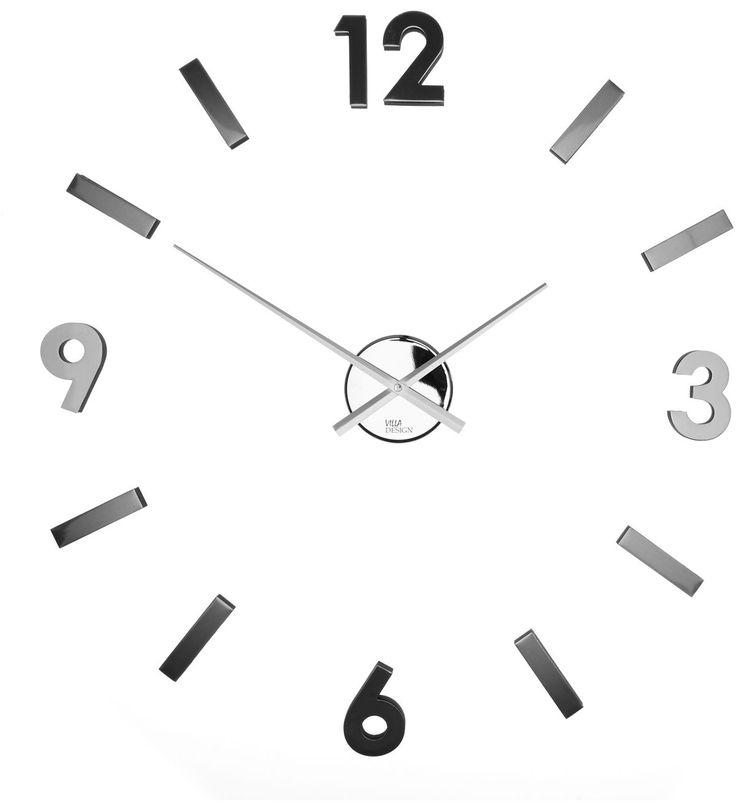 Kiinnitä kello tarroilla seinään.   Halkaisija n.47cm Väri: Hopea