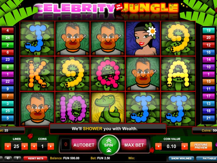 Tragamonedas Celebrity in the Jungle online gratis - http://freeslots77.com/es/tragamonedas-celebrity-in-the-jungle-gratis-online/