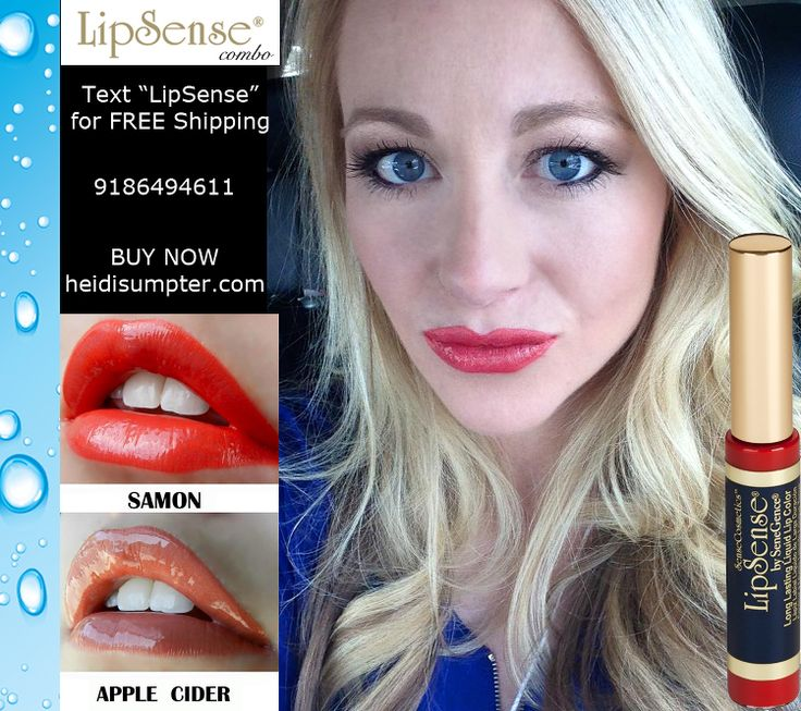 LipSense Combo - 2 layers Samon LipSense 1 layer Apple Cider LipSense Waterproof lipstick by Senegence heidisumpter.com BUY LipSense wholesale membership. $55 membership to start ordering up to 50% off. NO Brainer! Gluten FREE cosmetics. Cosmetics for women of color. Rhubarb LipSense, First Love LipSense, Rose Ice LipSense, Mauve Ice LipSense, Blu-Red LipSense, Kiss For A Cause LipSense, Top Wedding Venues, Bridal makeup, Beach makeup, Fleur De Lisa LipSense, Coral Reef LipSense…