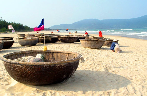 #teacollection - Boats. China Beach, Vietnam.