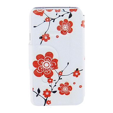 Kinston kukkien kukkia Pattern PU Leather Full Body Case for Samsung S5 I9600 – EUR € 7.99