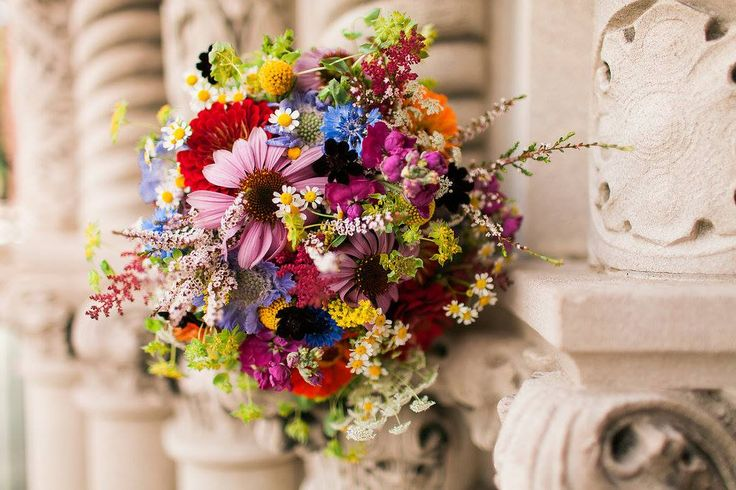 Lizzy + Joel | Wildflower bridal bouquet by @AuroraFloraOH | Tyler Scott Photograpy | tylerscottphotography.com