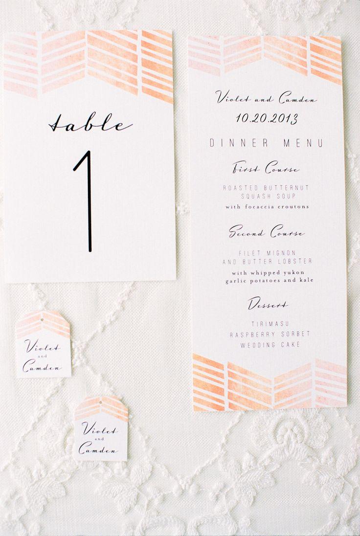 Pink graphic invitations