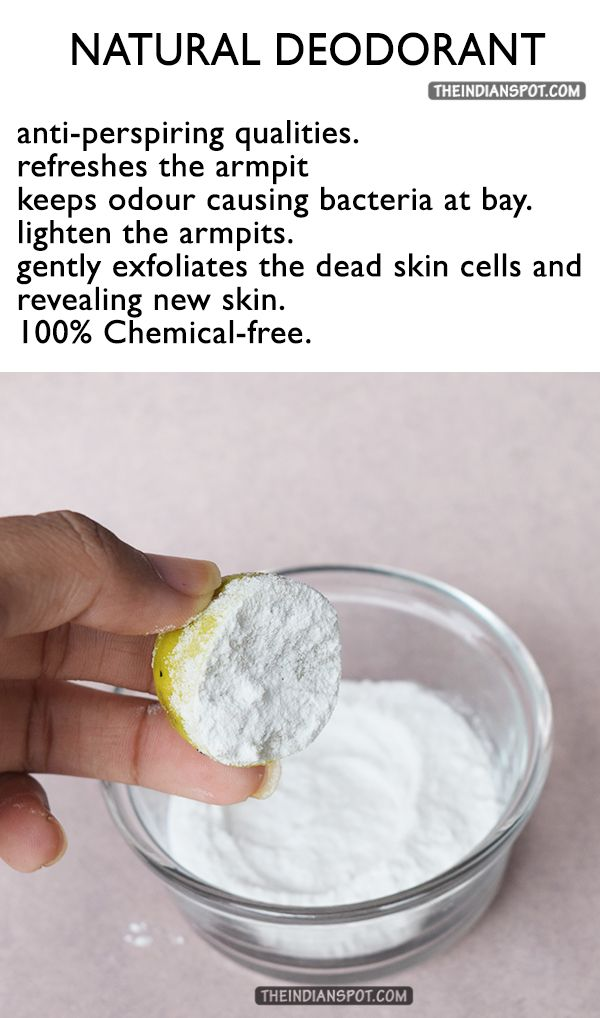 how to use baking soda as deodorant