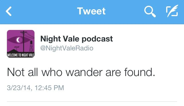 NightVale Tweets. Love this in relation to Tolkien.